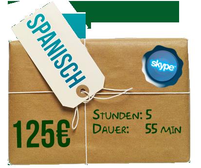 Paket 5 Stunden: 125€