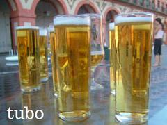tubo de cerveza