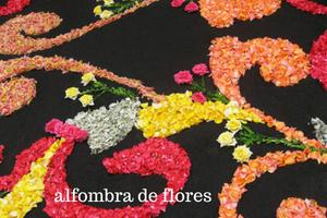 alfombra de flores Corpus Christi