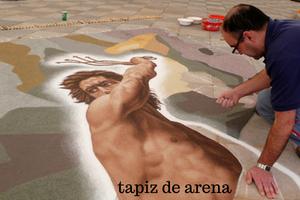 tapiz de arena Corpus Christi